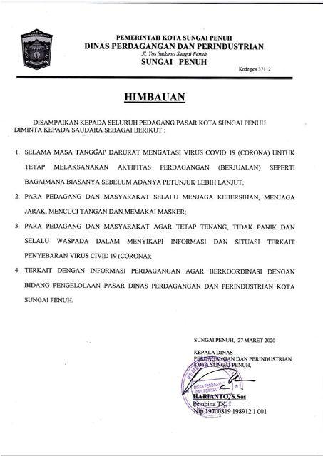 Photo of Penutupan Pasar Tanjung Bajure Hoax, Disperindag Terbitkan Himbauan