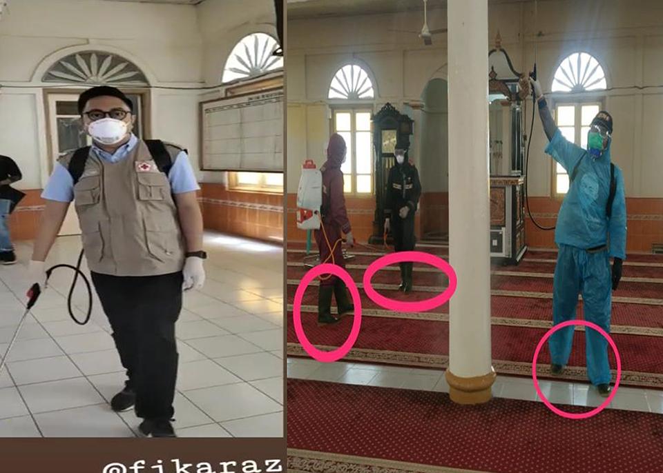 Fikar Azami Ketua PMI Sungai Penuh beserta Anggota Dan Relawan Di Masjid Raya Rawang