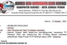 Photo of PT. KMH dan PT.Elang Batuah Pelaksana Mega Proyek PLTA Kerinci Dilaporkan ke Kejagung