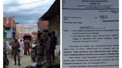 Photo of Tidak Indahkan Aturan, Pol PP Kerinci Tertibkan Pesta Perkawinan di Kemantan