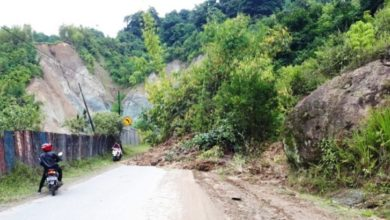Photo of Breaking News! Jalan Nasional Lubuk Nagodang Tertimbun Longsor